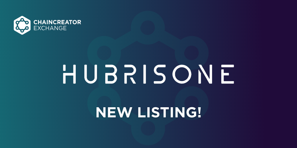 HubrisOne to be listed on CHAINCREATOR Exchange | CCG