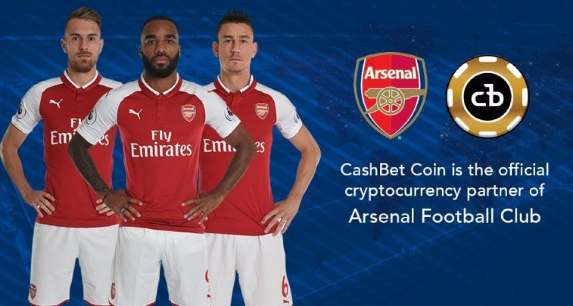 English Football Club Arsenal FC Enters The World of Cryptocurrency by Partnering With CashBet