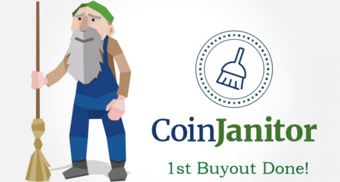 CoinJanitor Completes Its First Buyout of Another Cryptocurrency