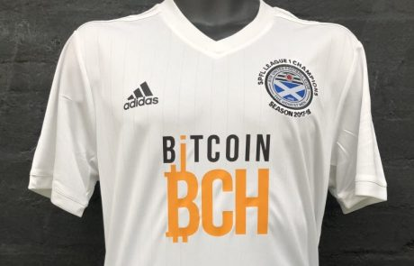Uk's recently promoted to Championship Ayr United has bitcoin cash as a sponsor