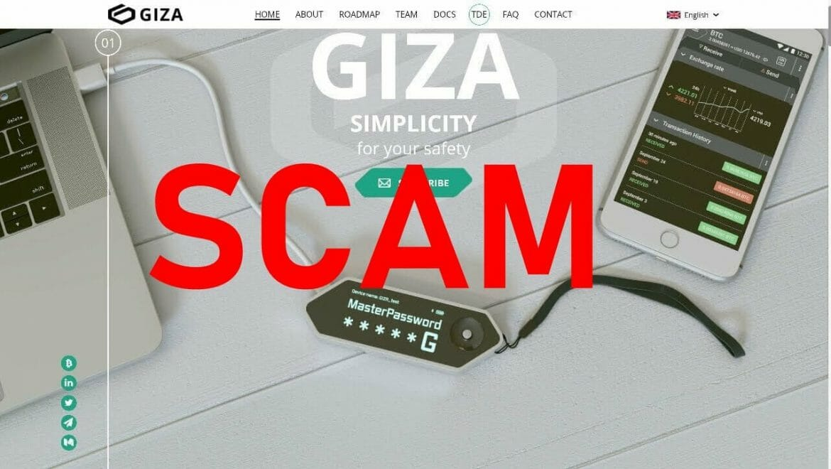 GIZA ICO SCAM left investors with more than $2 million loss