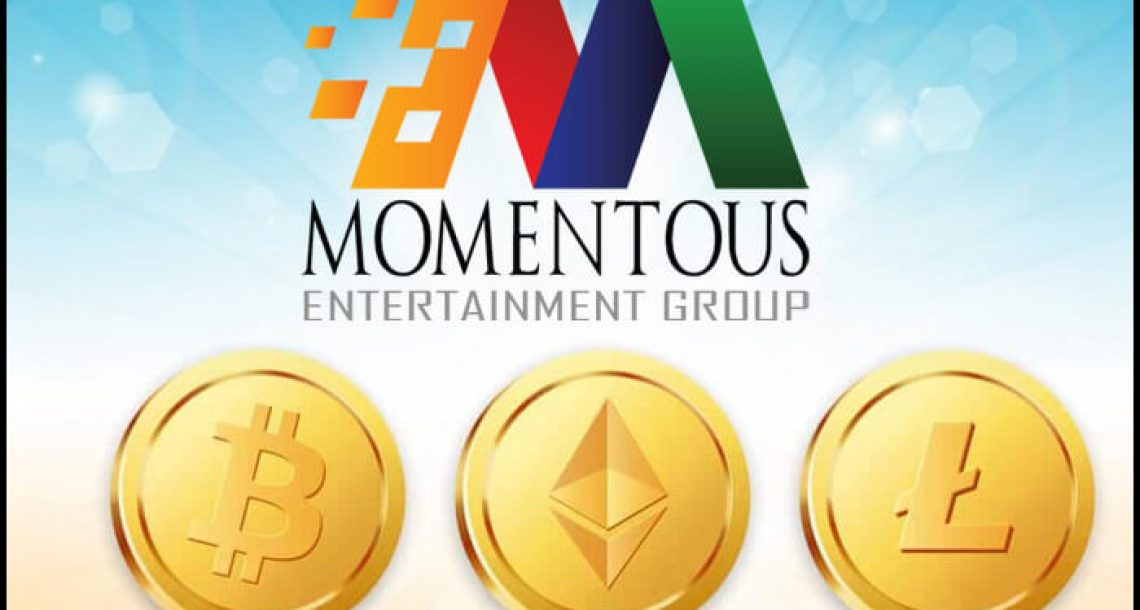 Momentous Entertainment Group To Start Accepting Cryptocurrency Investment